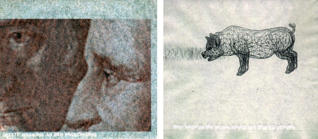 2001 LastwarningtotheFrogKing paper AndreasGehlen 1024x449 - Letzte Warnung an den Froschkönig